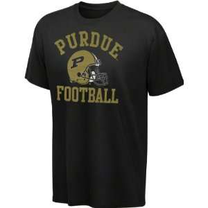 Purdue Boilermakers Youth Black Football Helmet Cube T