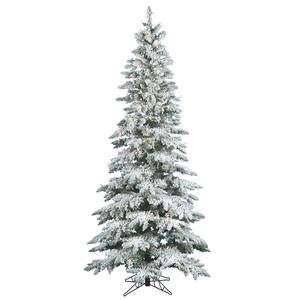 Flocked Utica Fir 144 Artificial Christmas Tree with