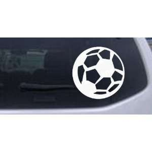 Soccer Ball Sports Car Window Wall Laptop Decal Sticker    White 6in X
