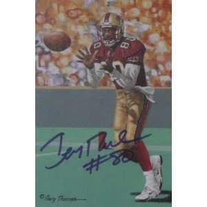 Jerry Rice San Francisco 49ers Signed Goal Line Art
