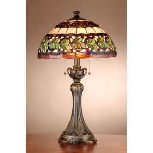 Dale Tiffany Aldridge Tiffany Table Lamp with Antique Bell