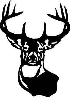 LARGE TYPICAL WHITETAIL DEER BUCK 10 POINT ANTER Car Wall decal