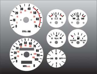 1987 1991 Jeep Wrangler White Face Gauges 87 91