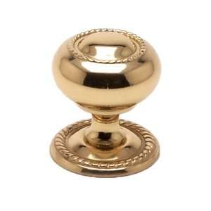 Berenson 9111 303 C Canterbury Polished Brass Knobs Cabinet Hardware