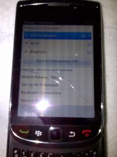 RIM BLACKBERRY TORCH 9800 GSM UNLOCKED BLACK PHONE  SCREEN WORKS BB
