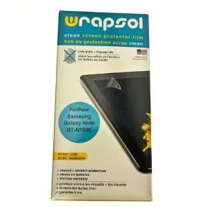 Wrapsol CLEAN Anti Fingerprint Screen Protector for Galaxy
