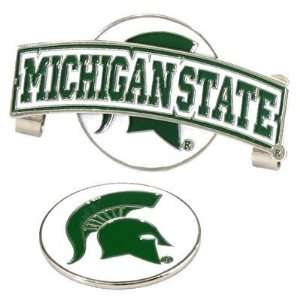 Michigan State Spartans Slider Hat Clip W/ Golf Ball