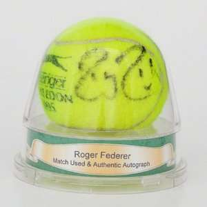 Roger Federer Wimbledon Match Used Autographed Tennis Ball