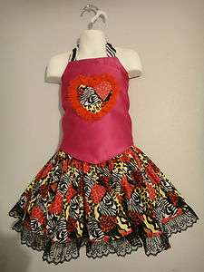 Zebra leopard pageant casual wear 3/4T Ooc