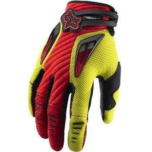 Fox Racing Platinum Gloves   10/Red/Yellow Automotive