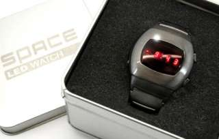 NEW MODEL LED WATCH 70s SPACE GUN METAL RETRO DIGITAL