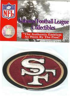 SAN FRANCISCO 49ERS OFFICIAL NFL LICENSED JERSEY PATCH