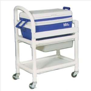 MJM International 810 Hydration Cart with 48 Quart Ice Chest and Side