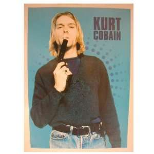 Nirvana Poster Kurt Cobain Gun In His Mouth Blowing Smoke