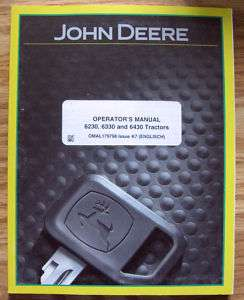 John Deere 6230 6330 6430 Tractor Operators Owner Manual jd book