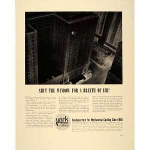 Air Conditioning City Hotels   Original Print Ad