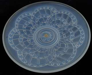 1930s French ART DECO Opalescent Glass Bowl SABINO LALIQUE ETLING ERA