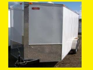 NEW 7x14 3500# TANDEM BIG BUCK TRAILER ENCLOSED CARGO OR MOTORCYCLE V