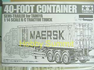 14 R/C 40 FOOT CONTAINER SEMI TRAILER Tractor Truck Scania MAN