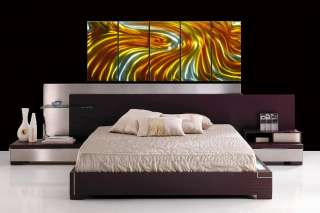 MODERN METAL PAINTING ABSTRACT WALL ART SCULPTURE LARGE