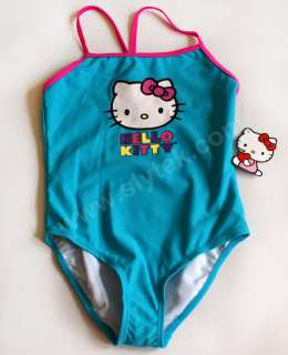 NWT Girls Swimsuit Bathing Suit One Piece 2 pcs NEW Speedo Hello Kitty