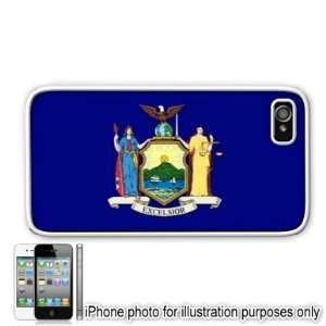 New York State Flag Apple Iphone 4 4s Case Cover White