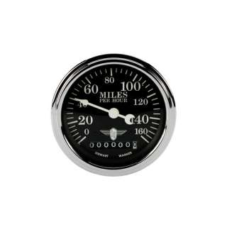 Stewart Warner Wing Series Black Electric Speedometer