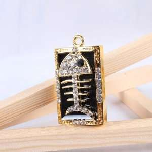 4GB Crystal Fish Bone Usb Flash Drive with Necklace
