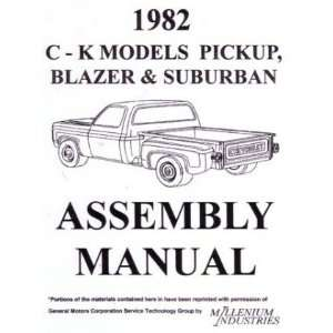1982 CHEVY 10 30 TRUCK BLAZER SUBURBAN Assembly Manual Automotive