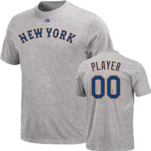 New York Mets  Any Player  Heather Name & Number T Shirt