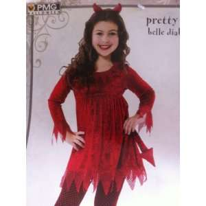 Pretty Sparkle Red Devil Girl Costume Dress Medium 7 8