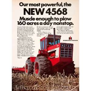 1975 Ad International Harvester 4568 Tractor Plow
