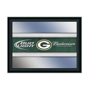 Green Bay Packers Budweiser & Bud Light NFL Beer Mirror