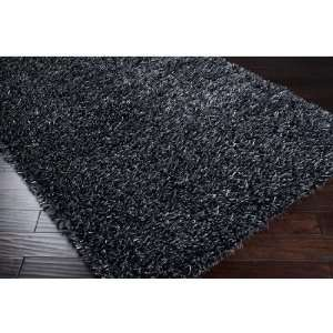 2 x 3 Timbre Coal Black Shag Area Throw Rug