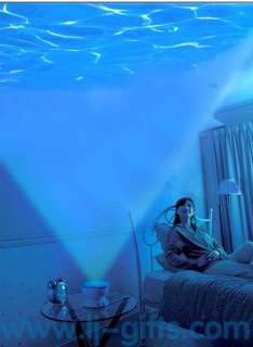 Relaxing night light Ocean wave LED sea projector pot lamp speaker