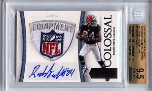 National Treasures Roddy White Auto NFL LOGO Patch SP 1/1 BGS 9.5 10
