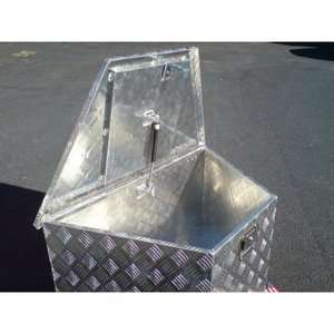 ALUMINUM TRAILER TOOL BOX 884 TONGUE TOOL BOX BOAT TOOL BOX