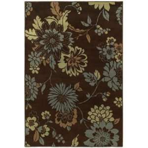 Concepts Contemporary Flora Vista Modern Brown & Blue Floral Area Rug