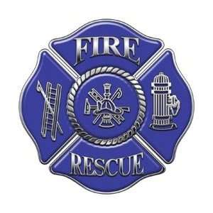 Firefighter Fire Rescue Firefighter Decal Blue 4
