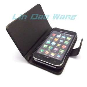 BLACK BOOK GENUINE LEATHER CASE COVER POUCH + FILM FOR SAMSUNG I9000
