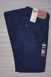 527 MENS LOW RISE BOOTCUT STRAIGHT WASHED BLACK DENIM JEANS LIST $54