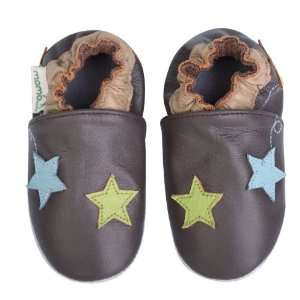 Momo Baby Soft Sole Baby Shoes   Stars Brown 18 24 Months