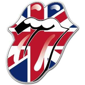 Rolling Stones England Flag Rock Band Car Bumper Sticker