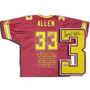 Marcus Allen Autographed Custom Stat Jersey Sports