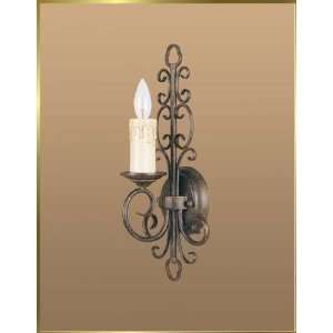 Wrought Iron Wall Sconce, JB 7200, 1 light, French Bronze