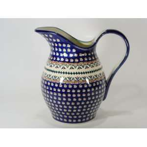 Polish Pottery Pitcher Lotus z1160 104
