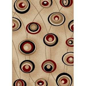 Vesuvio Collection Contemporary Ivory Area Rug 7.90 x 11