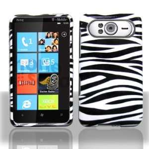 HTC HD7 Black White Zebra Case Cover Protector with Pry