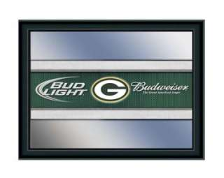 Green Bay Packers Budweiser & Bud Light Pub Mirror NFL