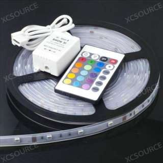 10M 5050 SMD LED RGB Waterproof 300 LED Strip Light+24Key IR Remote